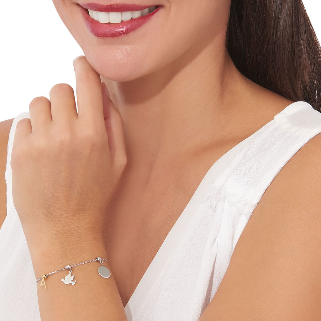 Charms Loeva Or Blanc - Charms Femme | Histoire d'Or