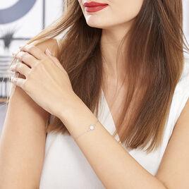Bracelet Berta Argent Blanc Oxyde De Zirconium - Bijoux Etoile Femme | Histoire d'Or