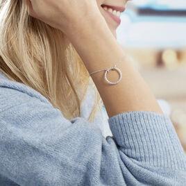 Bracelet Sowa Argent Blanc Oxyde De Zirconium - Bracelets fantaisie Femme | Histoire d'Or