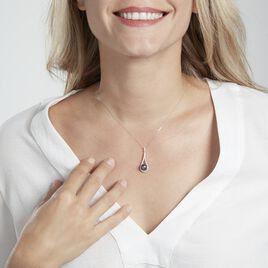 Collier Gillet Or Blanc Perle De Tahiti Oxyde Zirconium - Bijoux Femme | Histoire d'Or