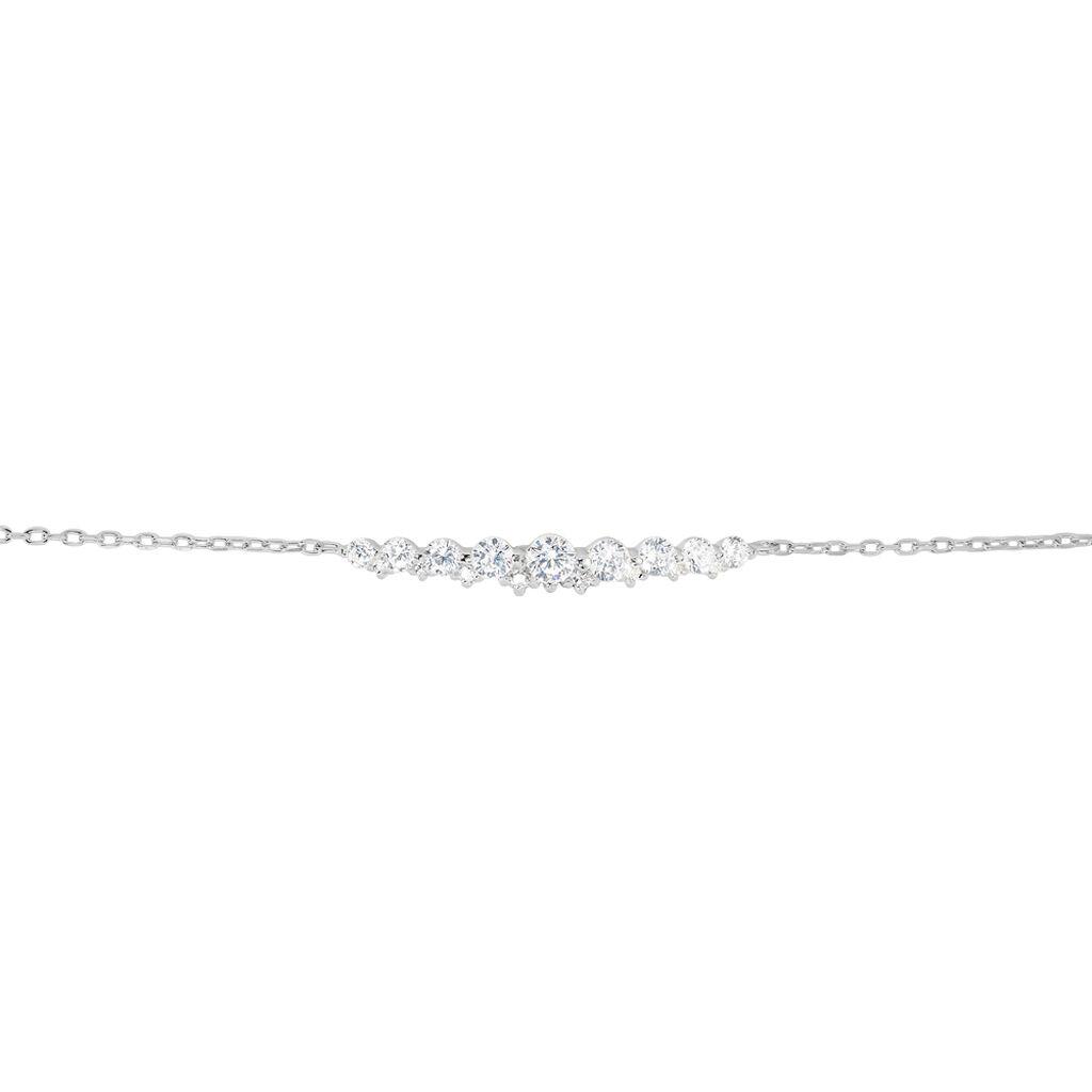 Bracelet Aliah Argent Blanc Oxyde De Zirconium - Bracelets fantaisie Femme | Histoire d'Or