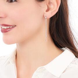 Boucles D'oreilles Pendantes Yuzu Argent Blanc - Boucles d'oreilles fantaisie Femme | Histoire d'Or
