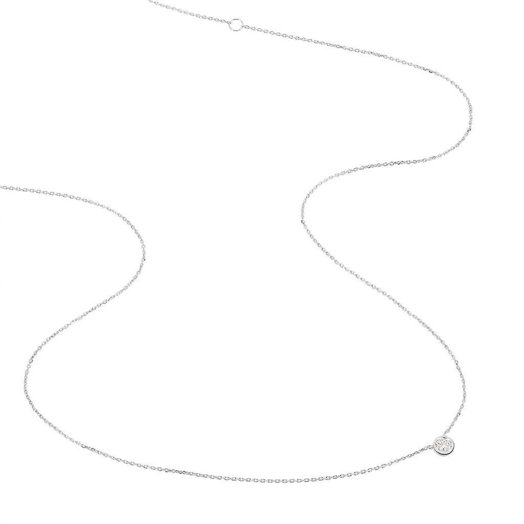 Collier Violanda Or Blanc Diamant - Bijoux Femme   Histoire d'Or