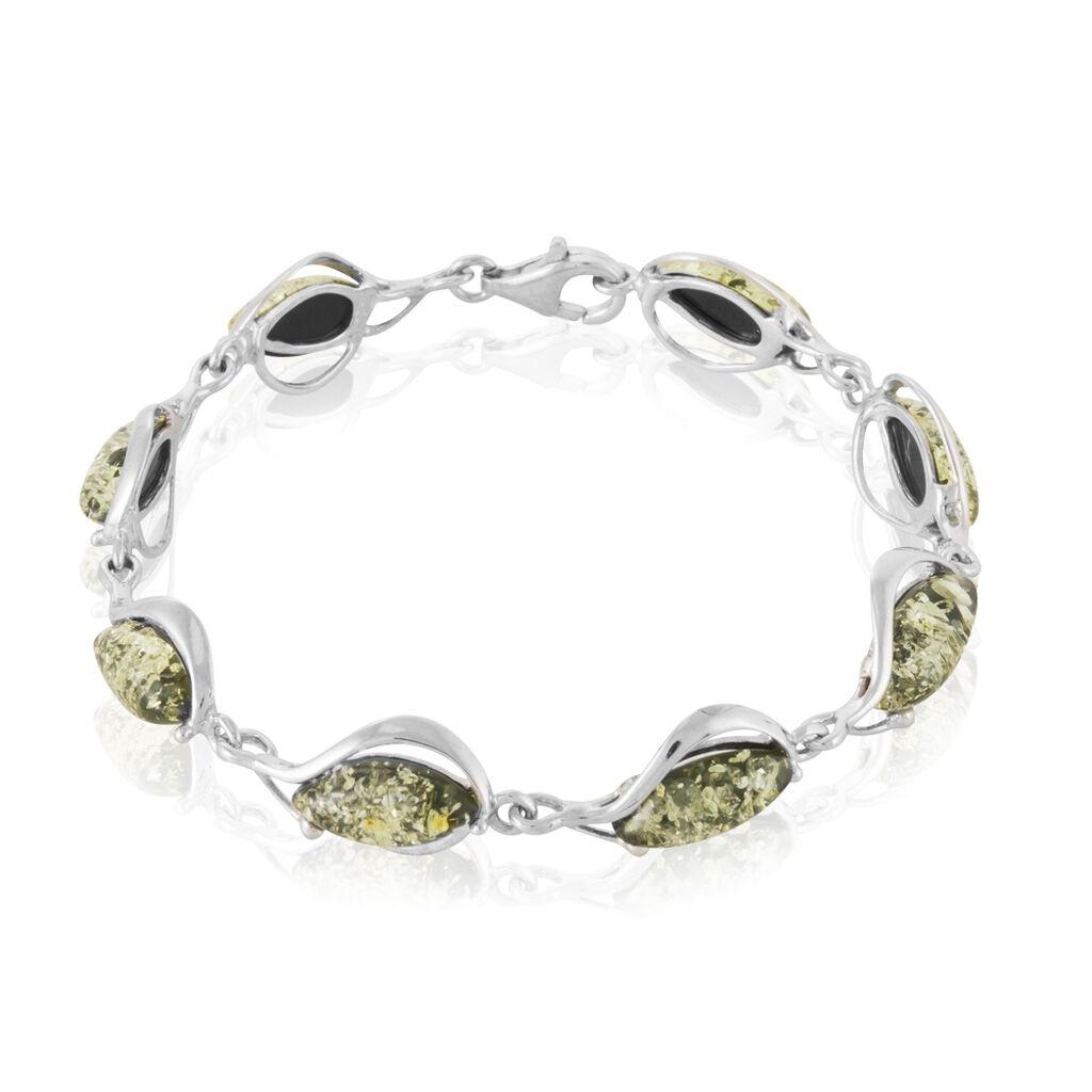 Bracelet Marie-pauline Argent Blanc Ambre - Bijoux Femme | Histoire d'Or
