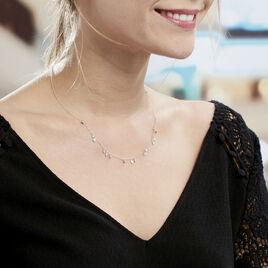 Collier Fares Argent Blanc Oxyde De Zirconium - Colliers fantaisie Femme | Histoire d'Or