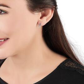 Boucles D'oreilles Puces Marnie Or Blanc Diamant - Boucles d'oreilles pendantes Femme   Histoire d'Or