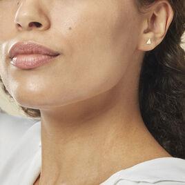 Boucles D'oreilles Puces Anne-berengere Triangle Or Jaune - Clous d'oreilles Femme | Histoire d'Or