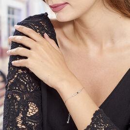 Bracelet Cyprielle Argent Blanc Pierre De Synthese - Bracelets fantaisie Femme   Histoire d'Or