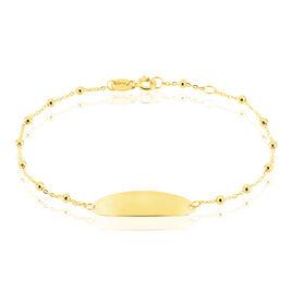 Bracelet Identité Evelina Maille Boule Or Jaune - Bracelets Communion Enfant | Histoire d'Or