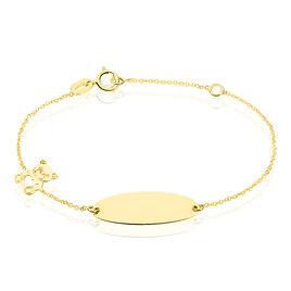 Bracelet Identité Helee Ourson Or Jaune - Bracelets Coeur Enfant | Histoire d'Or