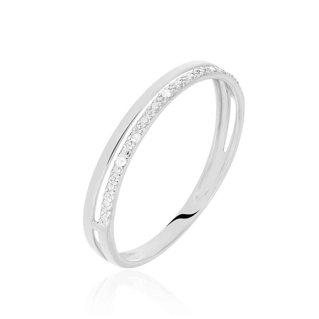 Bague Olena Or Blanc Diamant