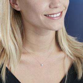 Collier Or Blanc Victoria Diamant De Synthese - Bijoux Femme   Histoire d'Or