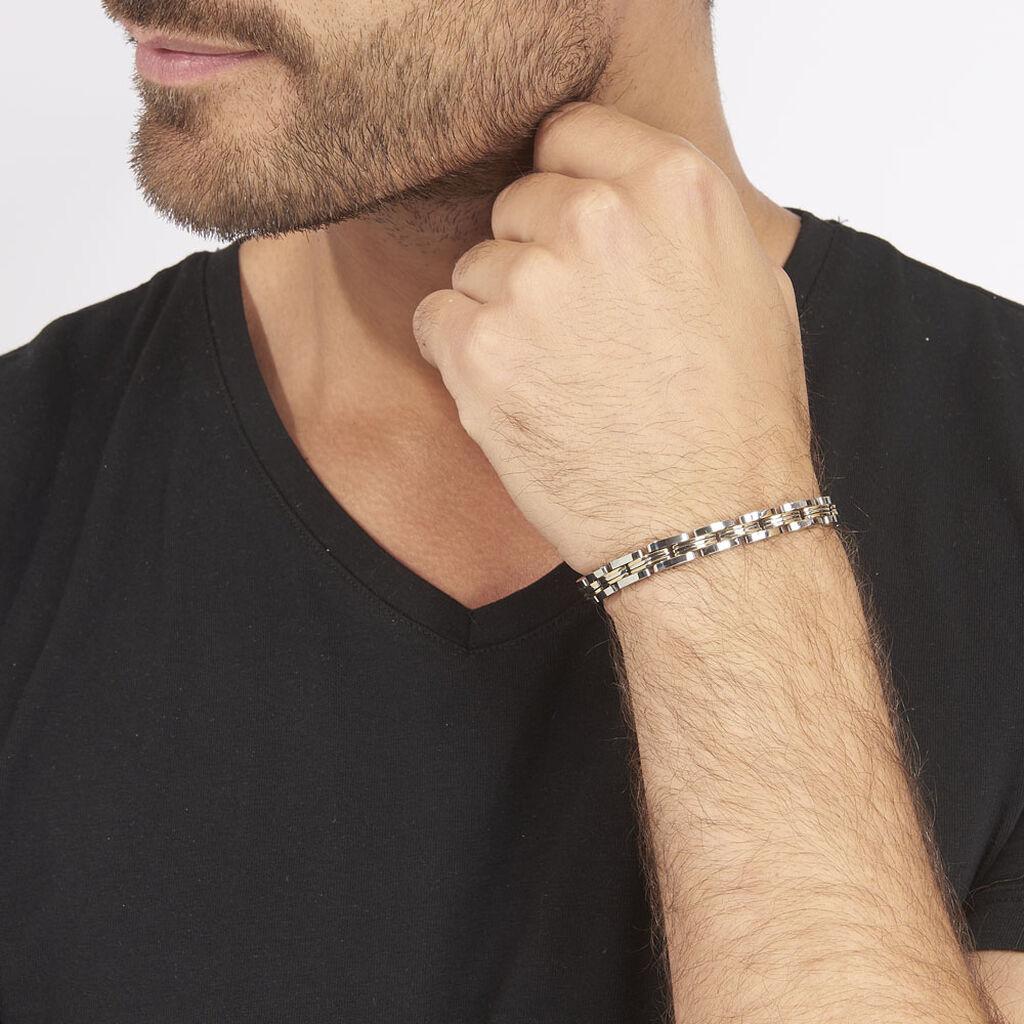 Bracelet Tom Acier Blanc - Bijoux Homme | Histoire d'Or