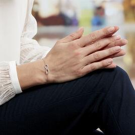 Bracelet Gwenaella Argent Blanc Oxyde De Zirconium - Bracelets Infini Femme | Histoire d'Or