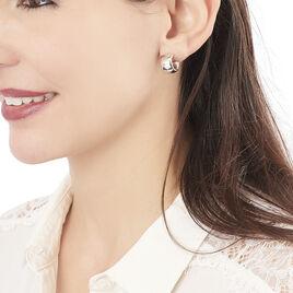 Créoles Cyrillia Argent Blanc - Boucles d'oreilles créoles Femme | Histoire d'Or