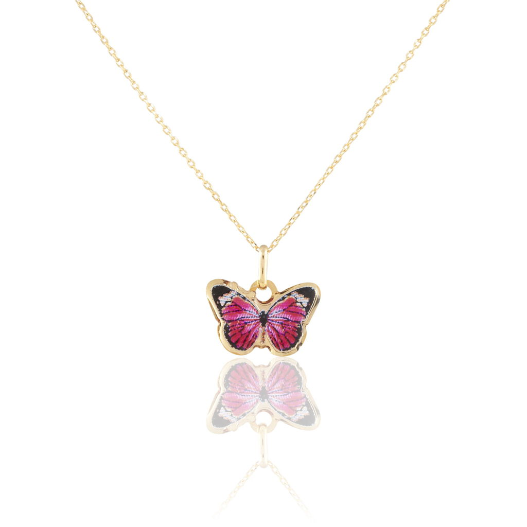 Collier Sulivia Papillon Or Jaune
