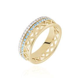Bague Zoila Plaque Or Jaune Oxyde De Zirconium - Bagues avec pierre Femme | Histoire d'Or