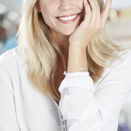 Bracelet Aella Or Blanc Oxyde De Zirconium - Bijoux Femme | Histoire d'Or