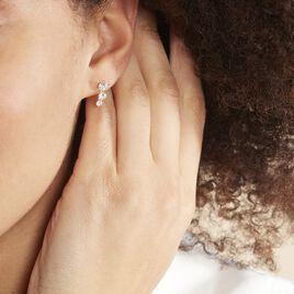 Bijoux D'oreilles Raffaele Or Jaune Oxyde De Zirconium - Boucles d'Oreilles Coeur Femme | Histoire d'Or