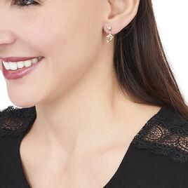 Boucles D'oreilles Pendantes Fulvie Coeurs Et Dauphin Or Jaune - Boucles d'Oreilles Coeur Femme | Histoire d'Or