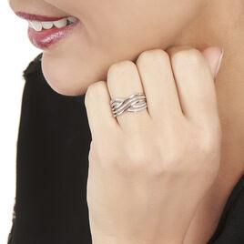 Bague Ocean Or Blanc Diamant - Bagues avec pierre Femme   Histoire d'Or