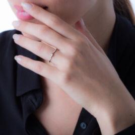 Bague Solitaire Superposition Or Blanc Diamant - Bagues solitaires Femme   Histoire d'Or