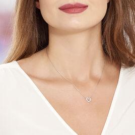 Collier Delicata Argent Blanc Oxyde De Zirconium - Colliers Coeur Femme | Histoire d'Or