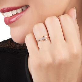 Bague Leila Or Rose Et Diamant - Bagues avec pierre Femme | Histoire d'Or