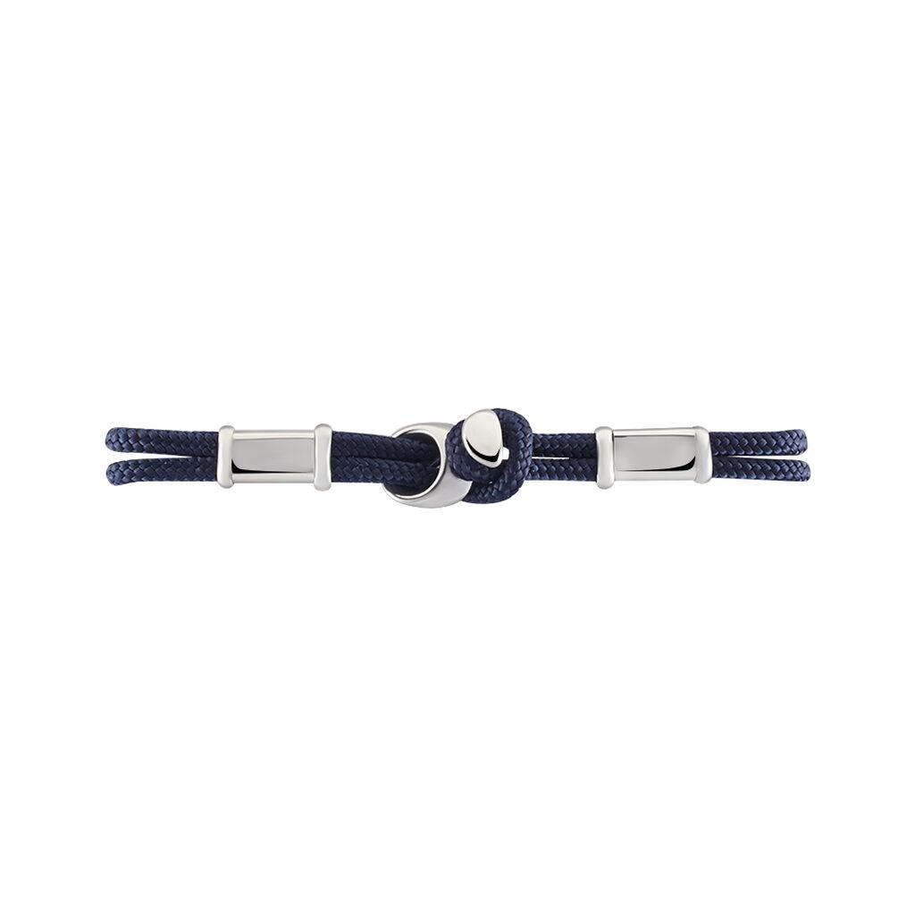 Bracelet Sylvain Acier Blanc - Bracelets cordon Homme   Histoire d'Or