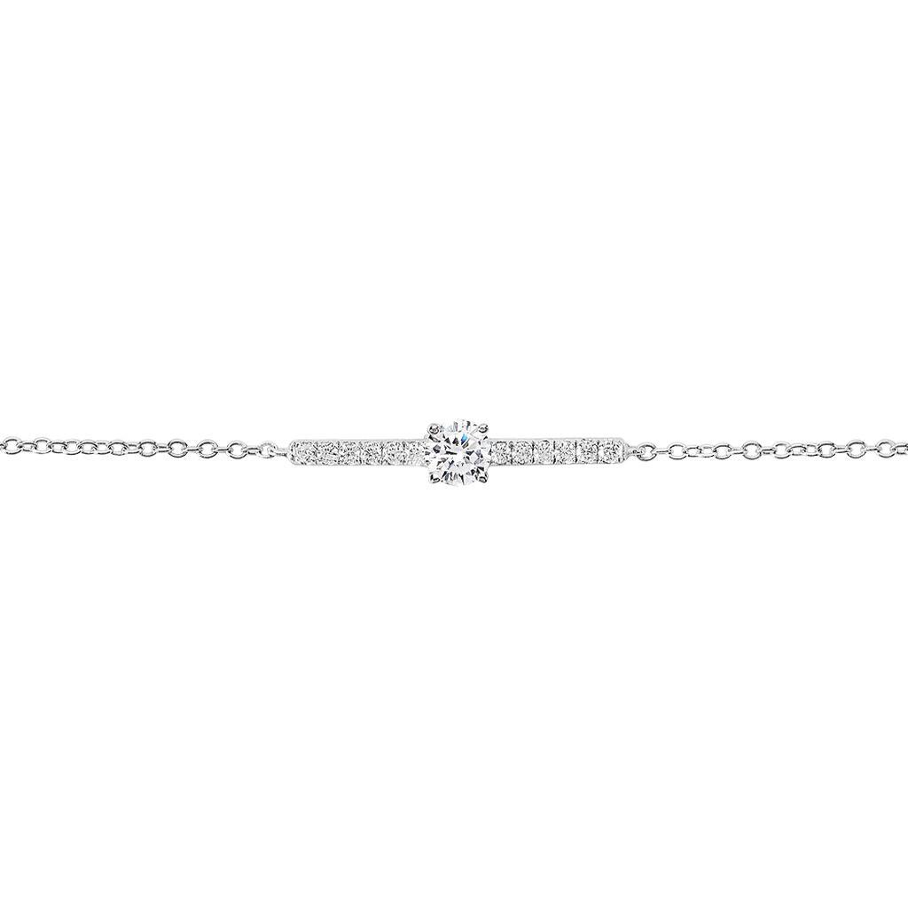 Bracelet Tovia Argent Blanc Oxyde De Zirconium - Bracelets fantaisie Femme   Histoire d'Or