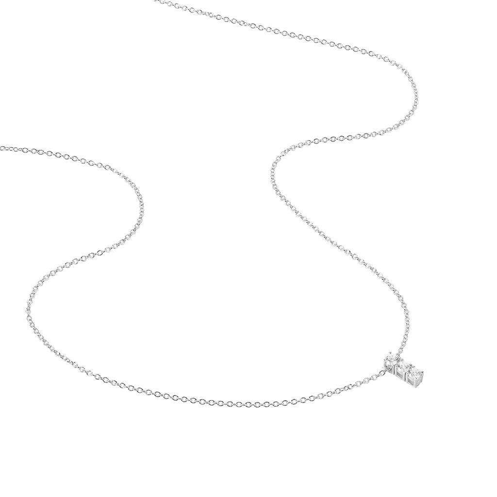 Collier Leala Argent Blanc Oxyde De Zirconium - Colliers fantaisie Femme | Histoire d'Or