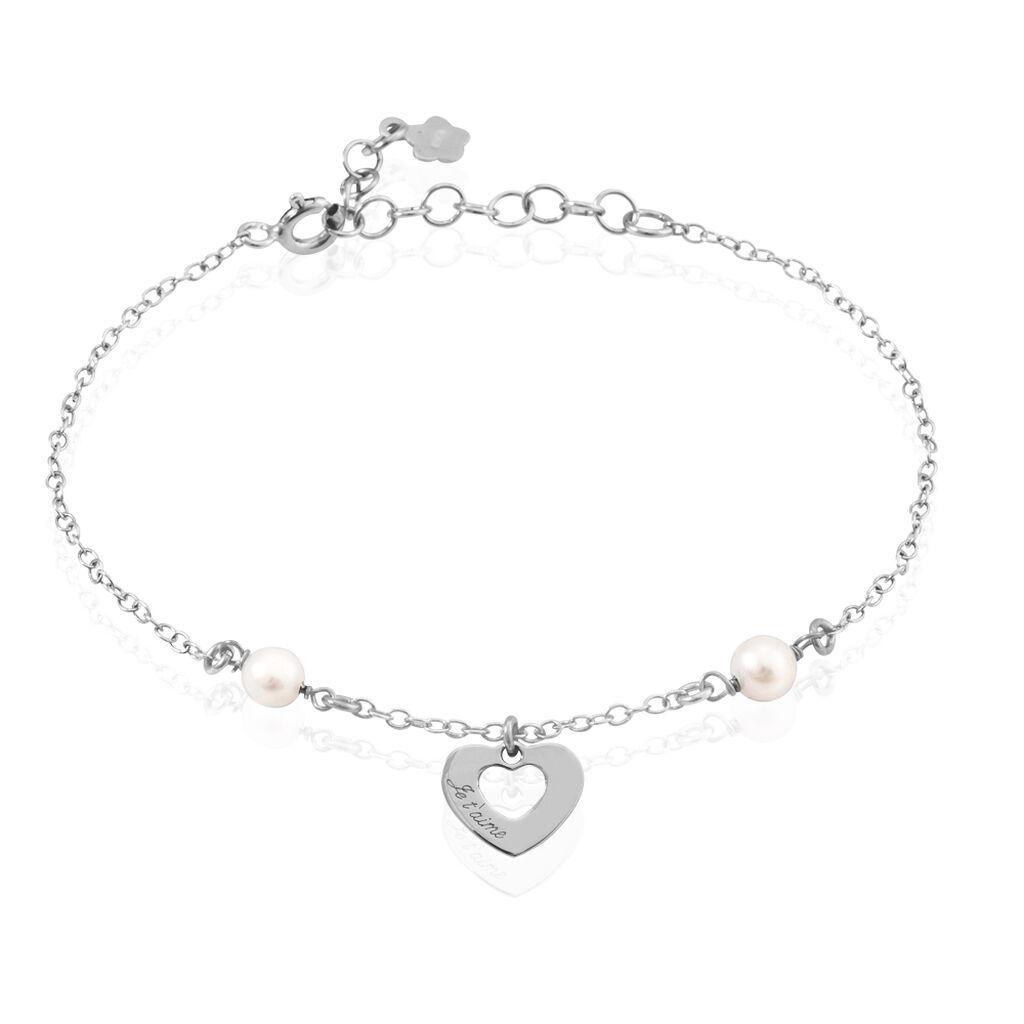 Bracelet Hassanatou Argent Blanc Perle De Culture - Bracelets Coeur Femme   Histoire d'Or