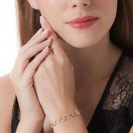 Bracelet Joice Maille Alternee Lisse Et Godronne Or Bicolore - Bijoux Femme | Histoire d'Or