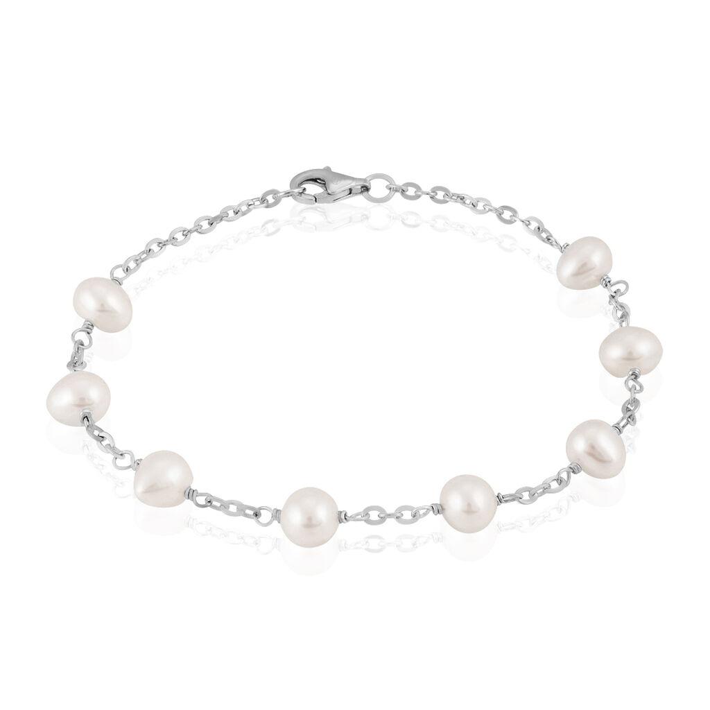 Bracelet Corentina Argent Blanc Perle De Culture - Bracelets fantaisie Femme | Histoire d'Or