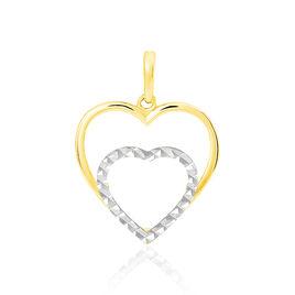Pendentif Eudocie Double Coeurs Or Bicolore - Pendentifs Coeur Femme | Histoire d'Or