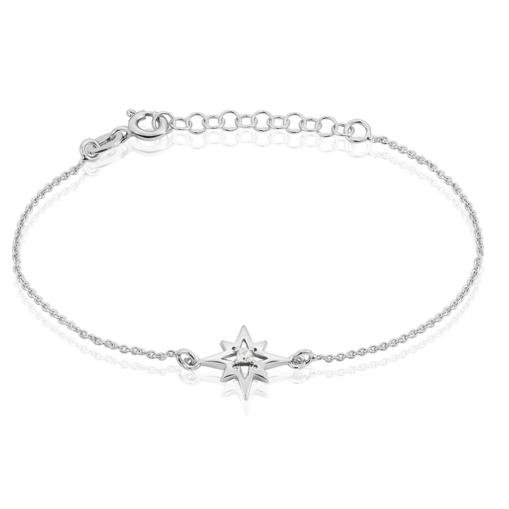 Bracelet Beverlie Argent Blanc Oxyde De Zirconium - Bijoux Etoile Femme   Histoire d'Or