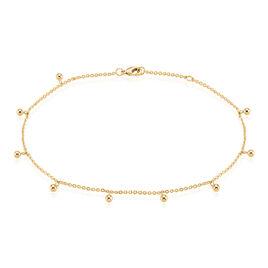 Chaîne De Cheville Leao Plaque Or Jaune - Chaînes de cheville Femme | Histoire d'Or
