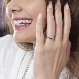 Bague Syriana Or Blanc Saphir Et Diamant - Bagues solitaires Femme | Histoire d'Or