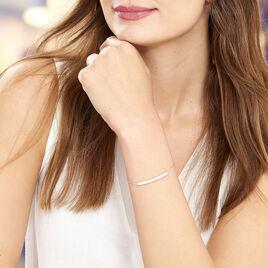 Bracelet Argent Blanc Oxyde De Zirconium - Bracelets fantaisie Femme   Histoire d'Or
