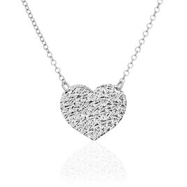 Collier Yrina Argent Blanc - Colliers Coeur Femme | Histoire d'Or
