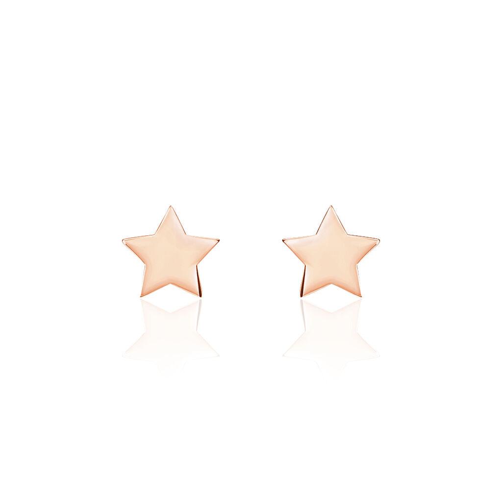 Boucles D'oreilles Puces Minitoile Argent Rose - Boucles d'Oreilles Etoile Femme | Histoire d'Or