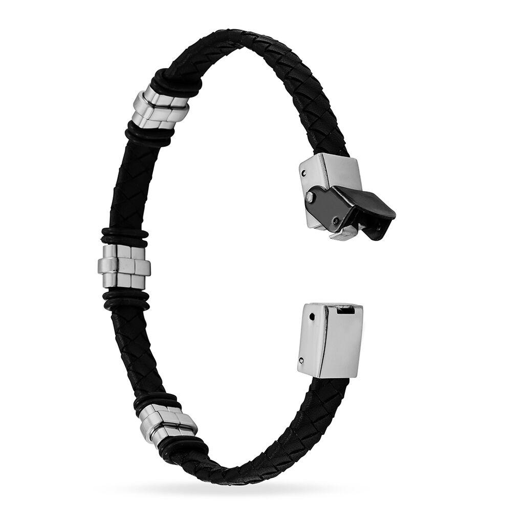 Bracelet Eliott Acier Blanc - Bracelets fantaisie Homme | Histoire d'Or