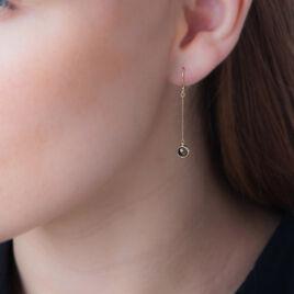 Boucles D'oreilles Pendantes Arenale Or Jaune Quartz - Boucles d'oreilles pendantes Femme   Histoire d'Or