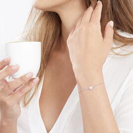 Bracelet Samia Argent Blanc Oxyde De Zirconium - Bracelets Coeur Femme | Histoire d'Or