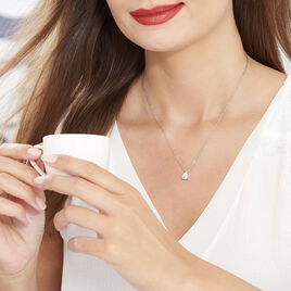 Collier Carolyn Argent Blanc Oxyde De Zirconium - Colliers fantaisie Femme | Histoire d'Or