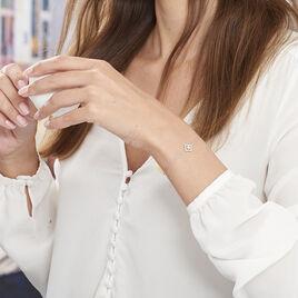Bracelet Abigail Argent Blanc Oxyde De Zirconium - Bracelets fantaisie Femme   Histoire d'Or