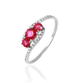 Bague Chloe Or Blanc Rubis Et Diamant - Bagues avec pierre Femme | Histoire d'Or