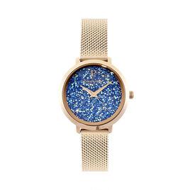 Montre Pierre Lannier La Petite Cristal Bleu - Montres classiques Femme | Histoire d'Or