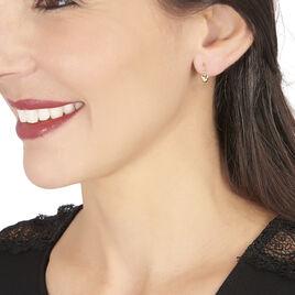 Boucles D'oreilles Pendantes France-marie Coeur Or Jaune - Boucles d'oreilles pendantes Enfant   Histoire d'Or