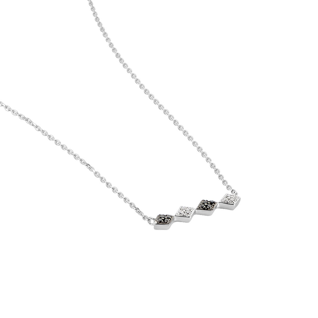 Collier Enid Or Blanc Diamant - Bijoux Femme   Histoire d'Or